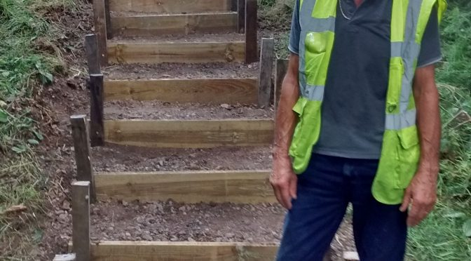Ramblers Team Install New Stairs in Dereham